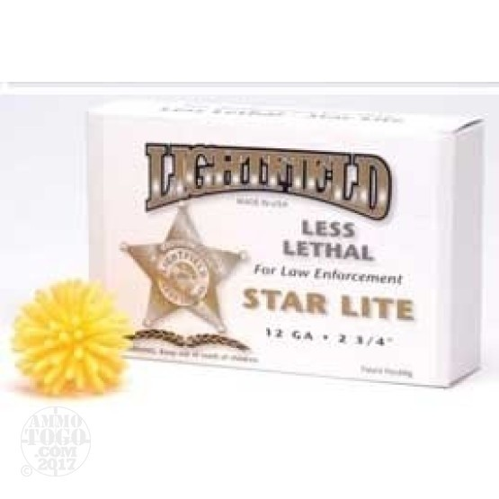 5rds - 12 Gauge Lightfield Star-Lite Less Lethal Ammo