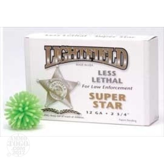 5rds - 12 Gauge Lightfield Super Star Less Lethal Ammo
