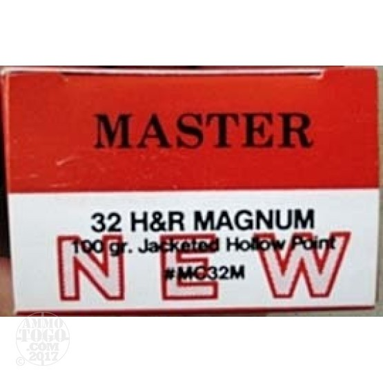 50rds - 32 H&R Magnum Master Cartridge 100gr. HP Ammo