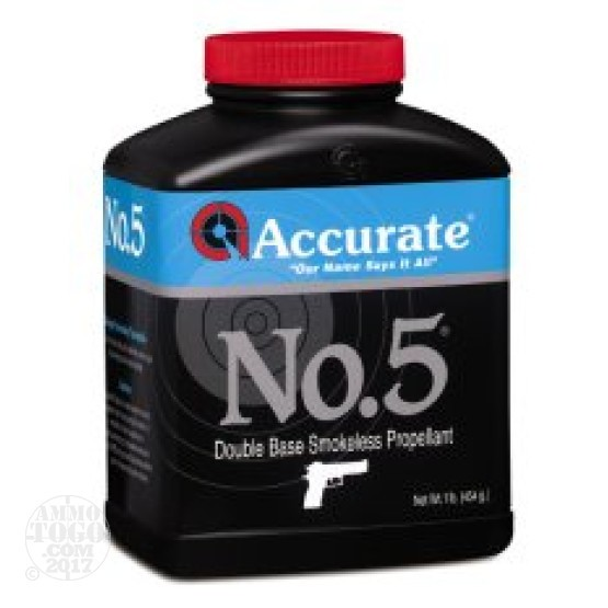 8 lbs – Accurate No. 5 Handgun Powder
