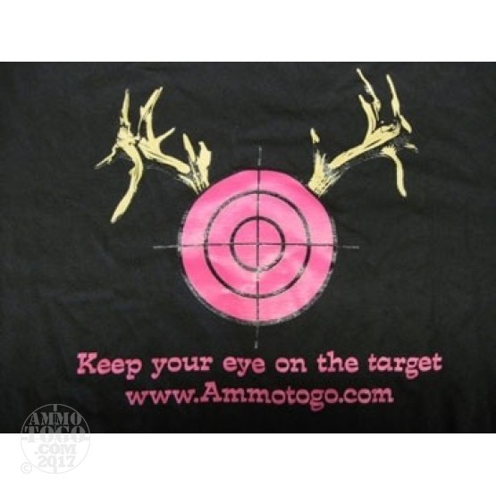 "1 - Large ""Keep Your Eye On The Target"" 100% Cotton T-Shirt"