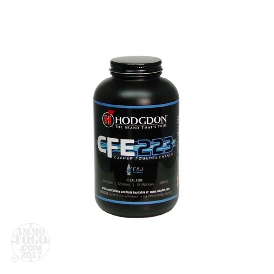 8 lbs – Hodgdon CFE 223 Rifle Powder