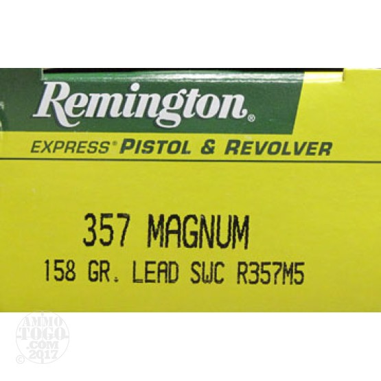 50rds - 357 Mag Remington Express 158gr. Semi-Wadcutter