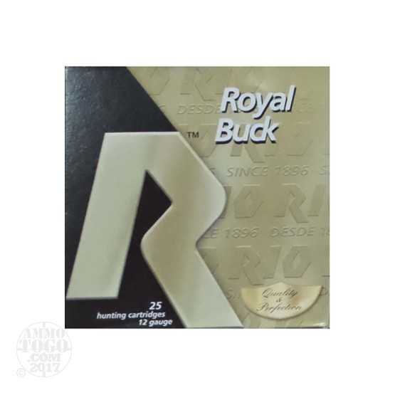 "250rds – 12 Gauge Rio Buck Royal 2-3/4"" 00 Buck 9P Ammo"