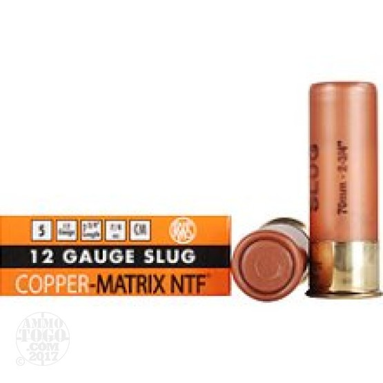"25rds - 12 Gauge RWS Copper-Matrix NTF 2 3/4"" 375gr. Slug Ammo"
