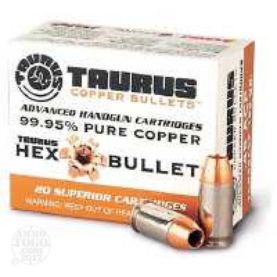 200rds - 45 ACP Taurus Hex Bullet 185gr. All Copper Hollow Point