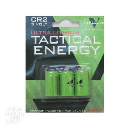 1 - Viridian CR2 Battery 3-Pack for use in Viridian C5L Laser