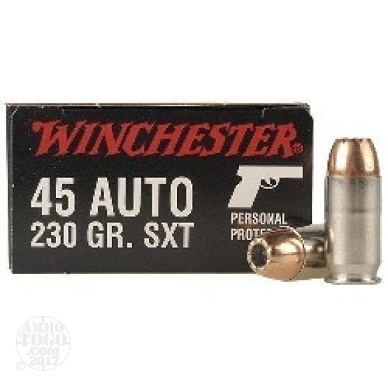 20rds - 45 ACP Winchester Supreme SXT 230gr Hollow Point