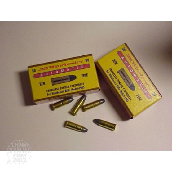 50rds - 22 Winchester Automatic 45gr Lead Nose Ammo