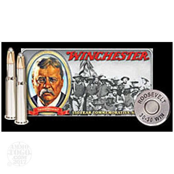 20rds - 30-30 Winchester Teddy Roosevelt Limited Edition Ammo