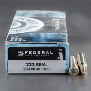 20rds - 222 Rem Federal 50gr. Power-Shok Soft Point Ammo