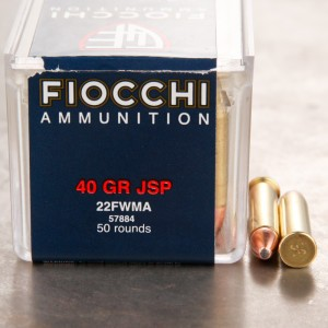 50rds - 22 Mag Fiocchi 40gr. Jacketed Soft Point Ammo