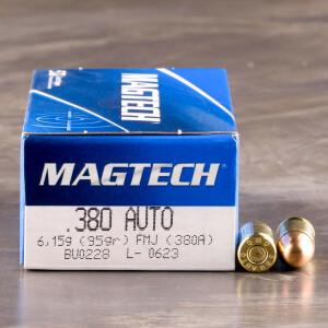 50rds - 380 Auto MAGTECH 95gr. FMJ Ammo