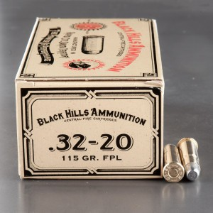 50rds - 32-20 Black Hills Cowboy Action Load 115gr. FPL Ammo