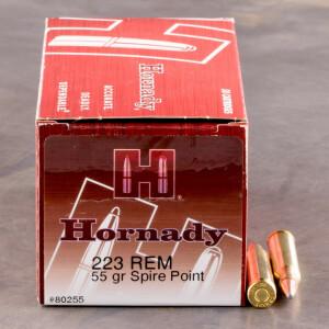 500rds - 223 Rem Hornady 55gr. SP Ammo