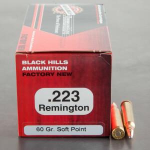 50rds - 223 Black Hills 60gr. Soft Point Ammo