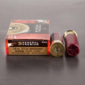 "250rds - 12 Ga. Federal Vital-Shok Flite-Control 2 3/4""  9 pell. 00 Buck Ammo"