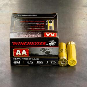"25rds - 20 Gauge Winchester AA Heavy Target 2-3/4"" 1 Ounce #7-1/2 Shot Ammo"