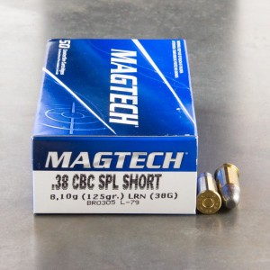 50rds - 38 Special Short Magtech 125gr. Lead Round Nose Ammo