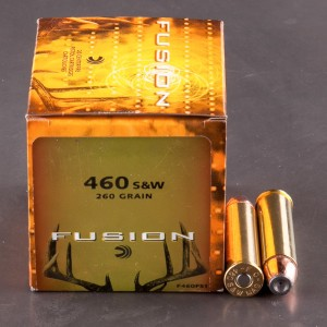 20rds - 460 S&W Mag Federal Fusion 260gr. Flat Nose SP Ammo