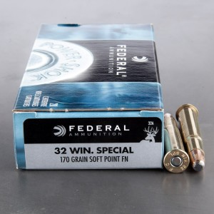 20rds - 32 Win Special Federal Power-Shok 170gr. Soft Point FN Ammo