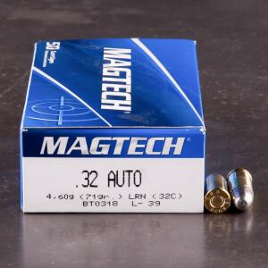 50rds - 32 Auto Magtech 71gr. LRN Ammo