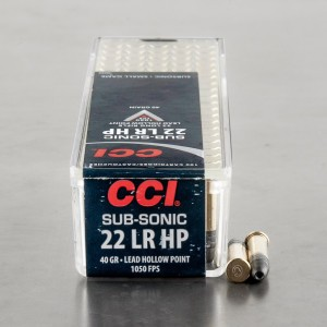 100rds - 22LR CCI Sub-Sonic 40gr. Hollow Point Ammo