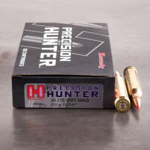 20rds – 30-378 Wby Mag Hornady Precision Hunter 220gr. Polymer Tip ELD-X Ammo