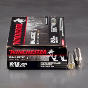 20rds – 243 Win. Winchester Ballistic SilverTip 95gr. Polymer Tip Ammo