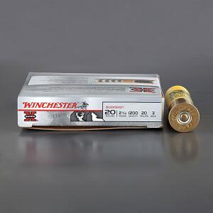 "5rds - 20 Gauge Winchester Super-X 2 3/4"" #3 Buckshot Ammo"