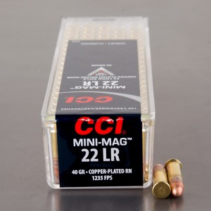 100rds - 22LR CCI Mini-Mag 40gr. Solid Point Ammo
