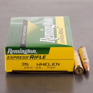 20rds - 35 Whelen Remington 250gr. Pointed Soft Point Ammo