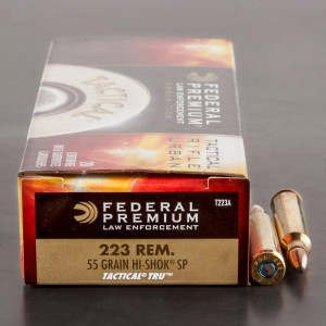 20rds - .223 Federal LE Tactical TRU 55gr. SP Ammo