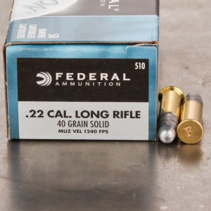 5000rds - 22LR Federal Champion 40gr. Solid Point Ammo