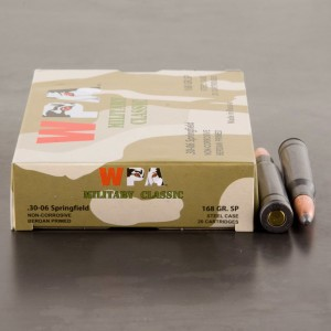 500rds – 30-06 Wolf Military Classic 168gr. SP Ammo