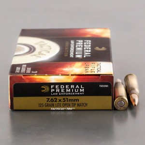 20rds – 7.62x51 Federal Premium Law Enforcement Tactical TRU 125gr. Lite OTM Ammo