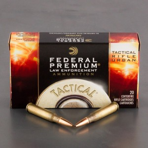 200rds – 7.62x51 Federal Premium Law Enforcement Tactical TRU 125gr. Lite OTM Ammo