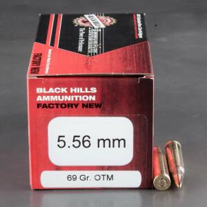 50rds - 5.56 Nato Black Hills 69gr. Open Tip Match Ammo