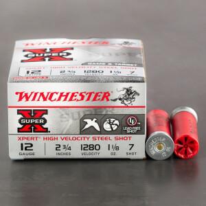 "25rds – 12 Gauge Winchester Super-X 2-3/4"" 1-1/8 oz. #7 Steel Shot Ammo"