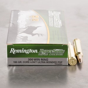 20rds - 300 Win Mag Remington Core-Lokt Ultra Bonded 180gr. PSP Ammo