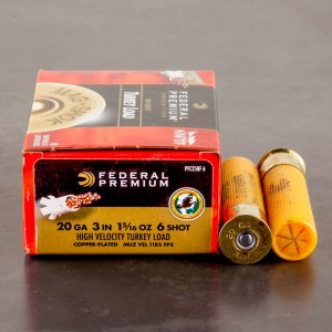 "10rds - 20 Gauge Federal Mag-Shok 3"" 1-5/16oz. #6 Turkey Load"