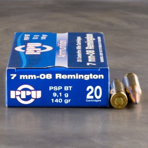 20rds - 7mm-08 Rem. Prvi Partizan 140gr. Soft Point Ammo