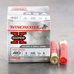"25rds – 410 Bore Winchester Super-X High Brass Game Loads 3"" 11/16 oz. #6 Shot Ammo"
