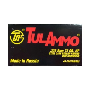 223 Rem - 75 Grain HP - TULA - 1000 Rounds