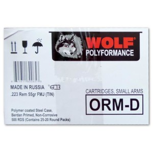 500rds - 223 Wolf Polyformance Spam Can 55gr. FMJ Ammo