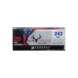 20rds - 243 Win Federal Non-Typical Whitetail 100gr. Non-Typical SP Ammo
