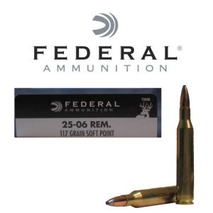 20rds - 25-06 Rem. Federal Power-Shok 117gr. Soft Point Ammo