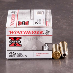 20rds - 45 Long Colt Winchester 225gr. Silver Tip HP Ammo