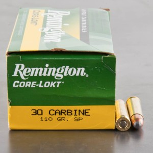 50rds - 30 Carbine Remington 110gr Core Lokt Soft Point Ammo