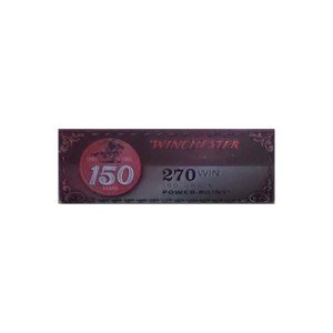 20rds – 270 Win Winchester 150th Year Anniversary Commemorative 150gr. PP Ammo